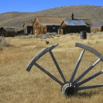 Settler's broken wagon wheel